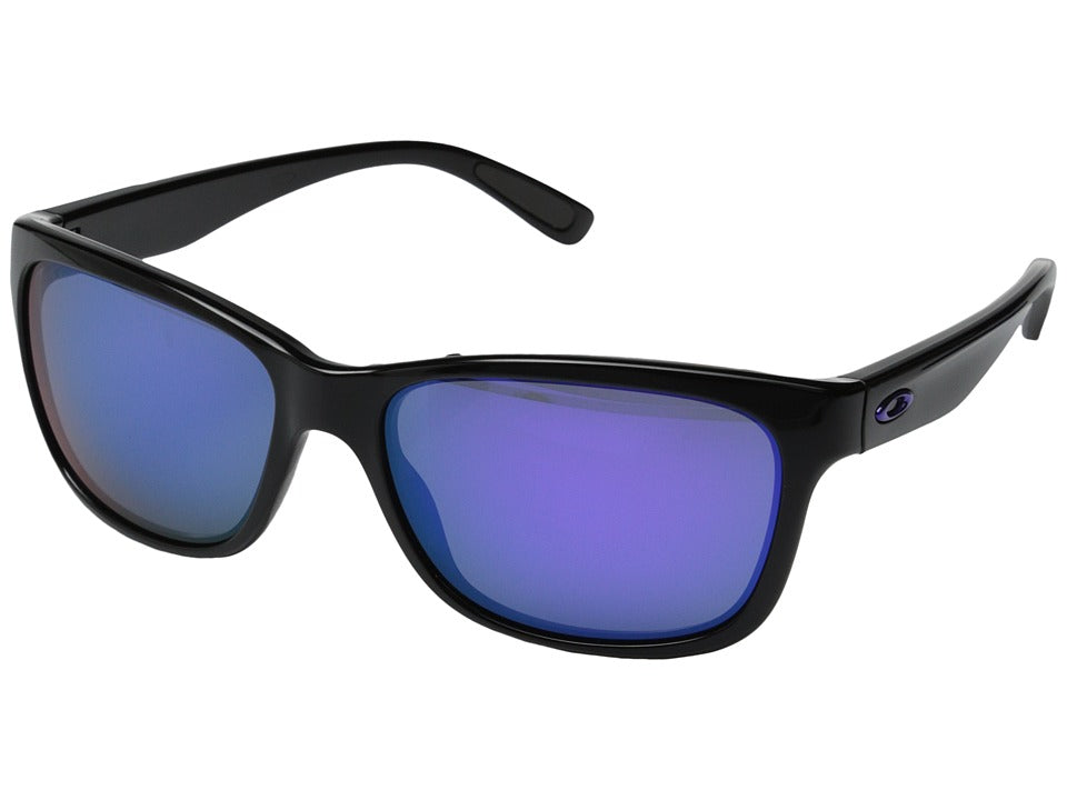 Oakley Women's Forehand Polished Black Violet Iridium Sunglasses OO9179-26