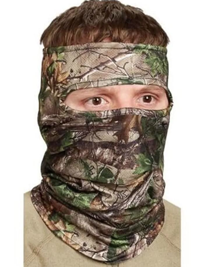Hunters Specialties Scent-A-Way Silver Lightweight 3/4 Face Mask - Realtree Xtra Green