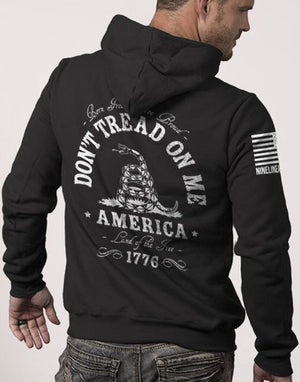 Nine Line Hoodie - Don't Tread On Me - Heather Grey