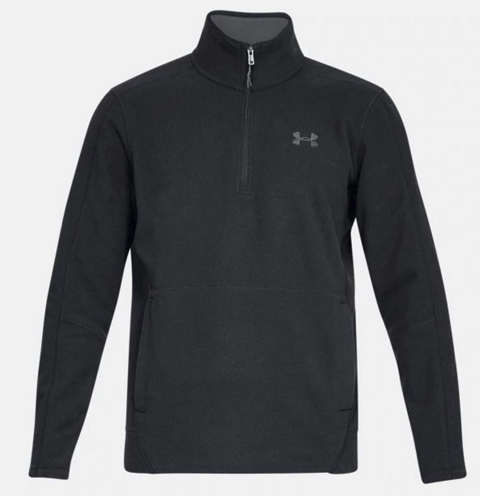 Under Armour Off Grid Fleece Solid .25 Zip-Black-Medium