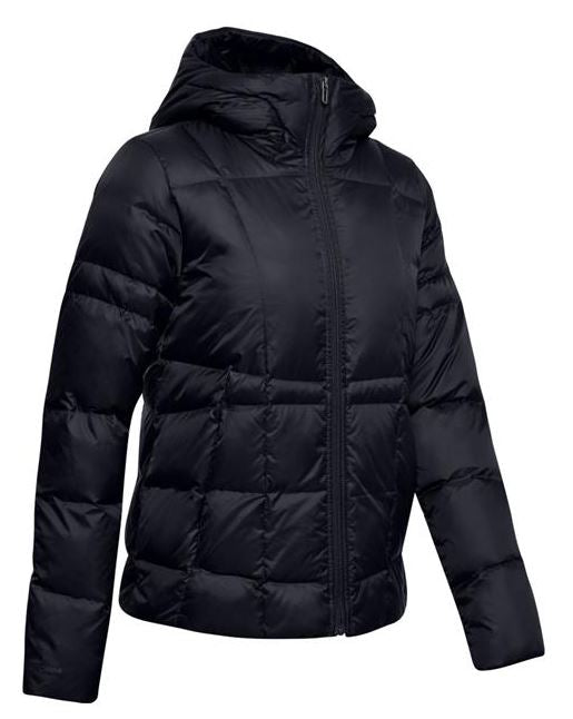 Under Armour 1342814-001 Down Hooded Jacket-Women's-Black