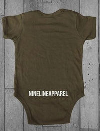 NineLine Land Of The Free - Onesie - ODGreen