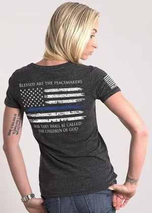 NineLine Women's Relaxed Fit T-Shirt - Thin Blue Line
