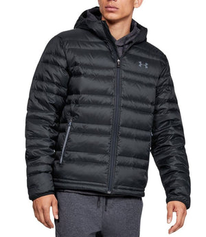 Under Armour 1342738-001 Armour Down Hooded Jacket-Men's-Black