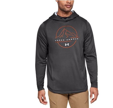 Under Armour 1328171-020 Tech Terry Mountain Graphic Hoodie-Gray