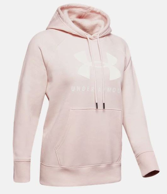 Under Armour 1348550-675 Rival Fleece Sportstyle Graphic Hoodie-Women's-Pink