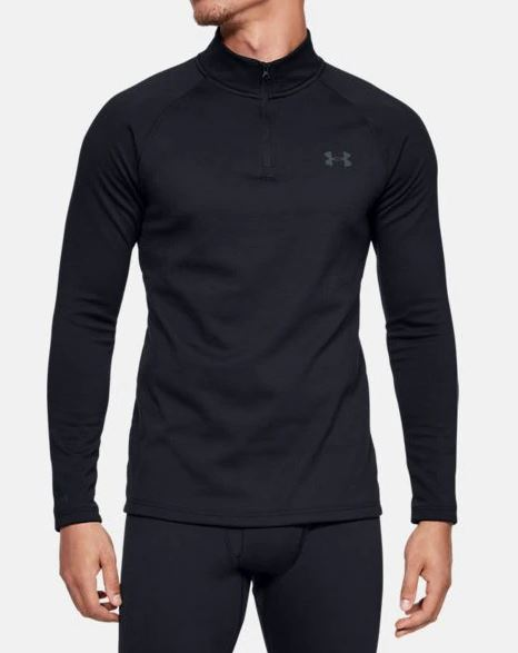 Under Armour 1343242-001 Packaged Base 4.0 1/4 Zip - Mens - Black