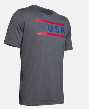 Under Armour 1343543-012 Freedom USA T-Shirt-Men's-Gray
