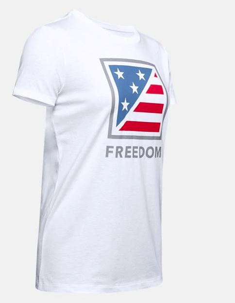 Under Armour 1343557-100 Freedom Folder Flag T-Shirt - Women's