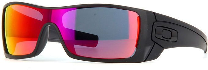9dfd34aafd Oakley mens Batwolf OO9101-38 Ruby Iridium Sport Sunglasses