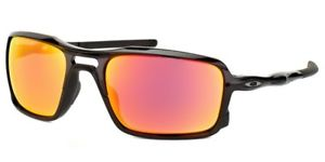 Oakley Triggerman Sunglasses Polished Black w/ Fire Iridium Lens OO9266-03