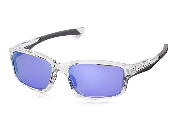 Oakley Chainlink Sunglasses Polished Clear/Violet Irid, One Size