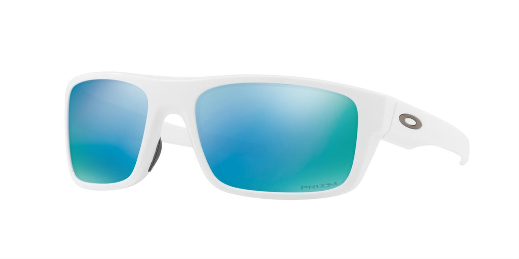 Oakley Men's OO9367-1460 Drop Point Polished White Prism Deep H2O Polarized Sunglasses