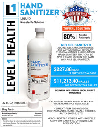 Level 1 Healthcare Hand Sanitizer 32oz Bottle