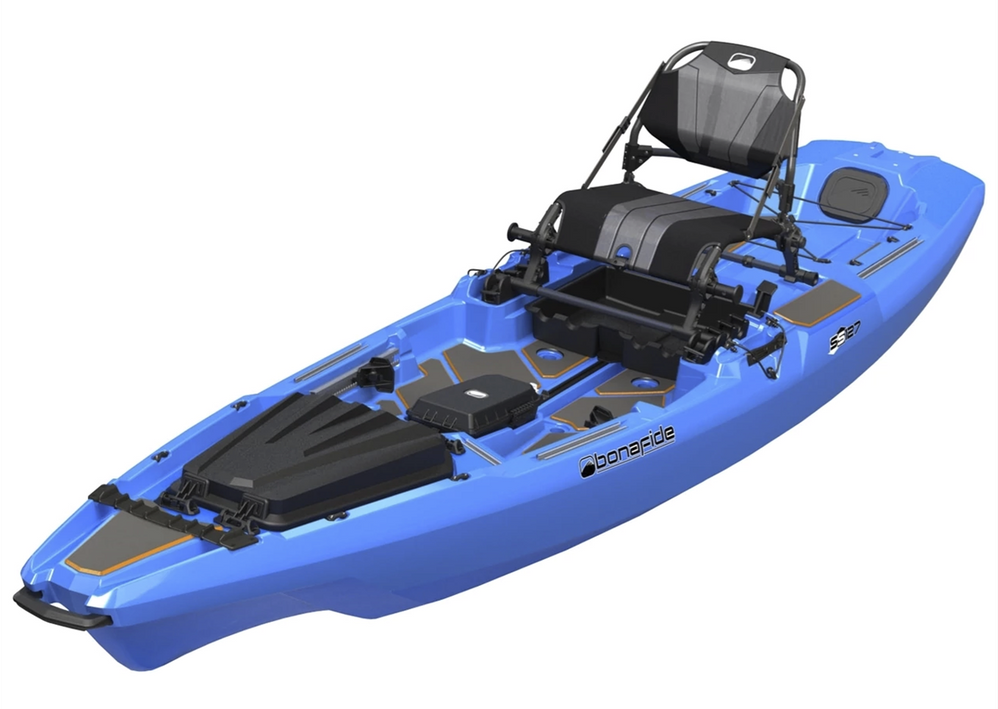 BonaFide Sit-On-Top Fishing Kayak - SS127-CoolHandBLUE *In-Store Pick-Up Only*
