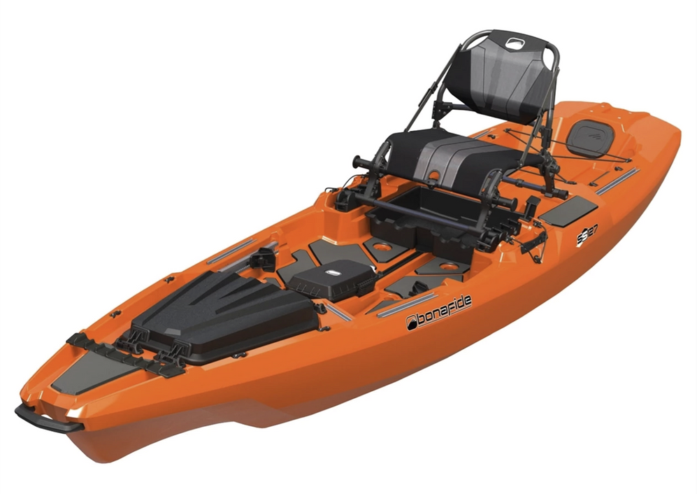 BonaFide Sit-On-Top Fishing Kayak - SS127-HondoOrange *In-Store Pick-Up Only*