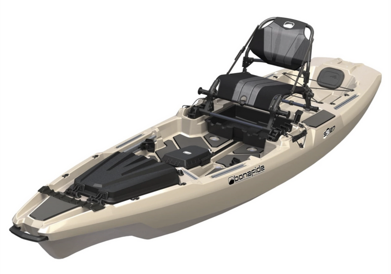 BonaFide Sit-On-Top Fishing Kayak - SS127-TrueGritSand *In-Store Pick-Up Only*