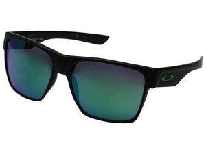 Oakley Two Face Xl OO9350-08 Matte Black/jade Iridium Sunglasses