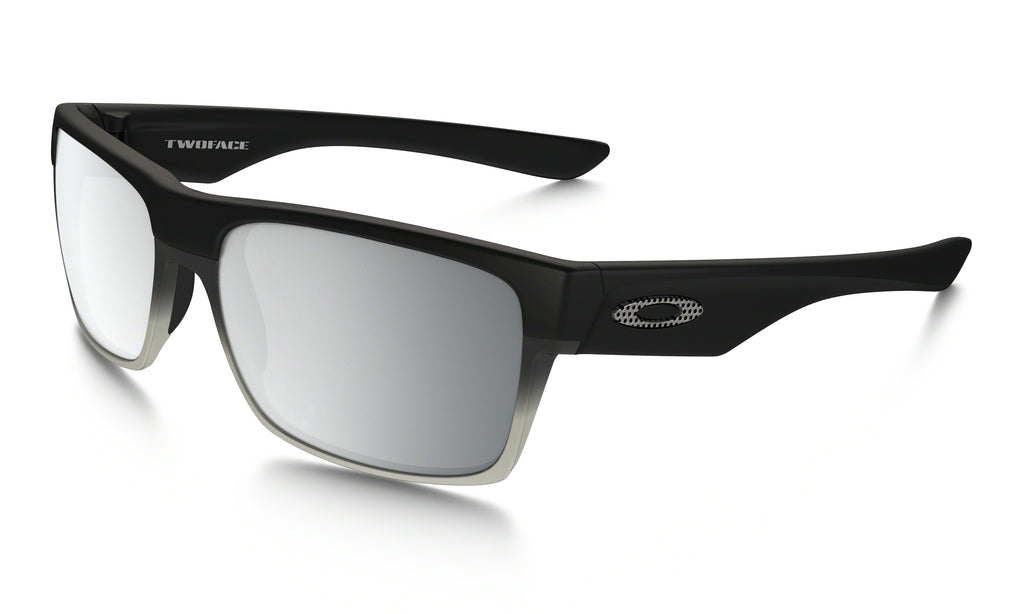 Oakley TwoFace Sunglasses, Machinist Matte Black/Chrome Iridium OO9189-30