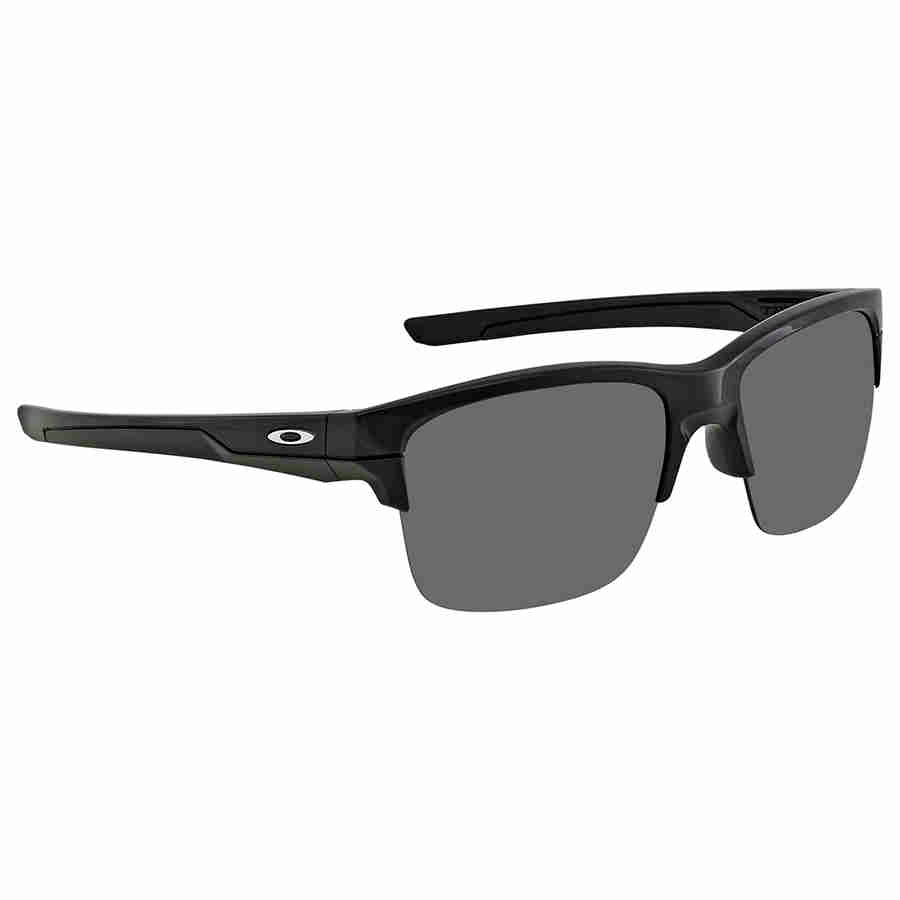 Oakley USA Semi Rimless Thinlink Polished Iridium Black Sunglasses OO9316-03
