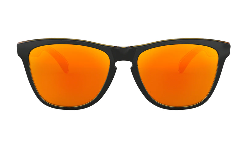 Oakley Men's Frogskins Non-Polarized Iridium Square Sunglasses, Matte Black, 54.7 mm - OO9013-D955