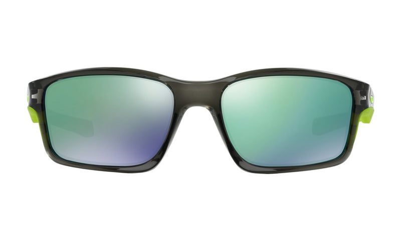 Oakley Men's Chainlink OO9252-04 Rectangular Sunglasses, Grey Smoke, 57 mm