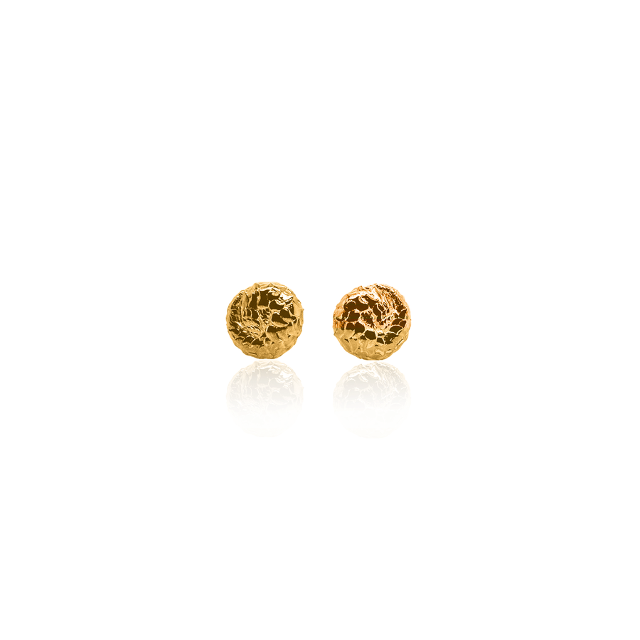 24Kt Yellow Gold Pangolin Stud Earrings