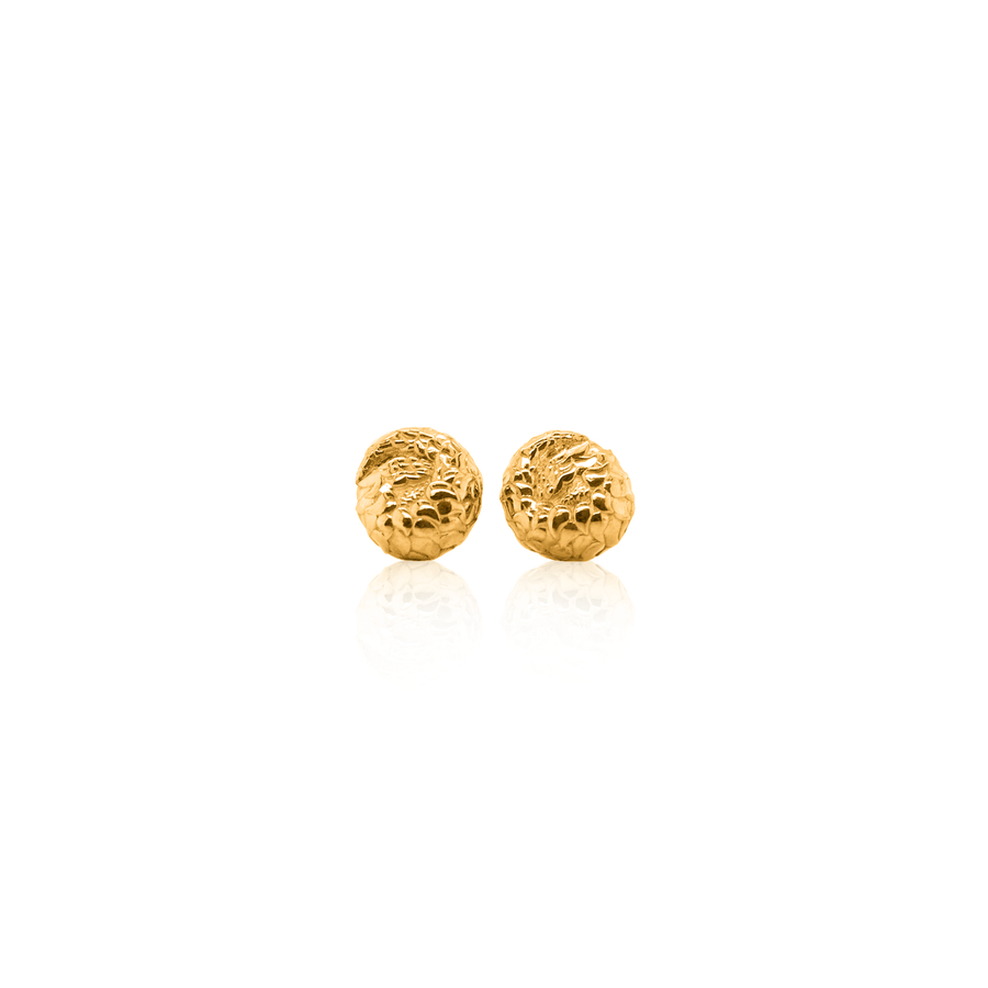 Gold Pangolin Stud Earrings