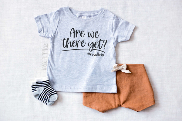 Are we there yet #Roadtrip Vacation Shirt Toddler Shirt Family Vacation Tee Custom Kid's Toddler Theba Outfitters