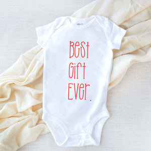 Best Gift Ever Pregnancy Announcement Baby Onesie Bodysuit newborn infant theba outfitters