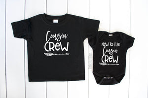 Cousin Crew Shirt Tee New to the Cousin Crew Onesie Bodysuit Infant Toddler Baby Family Matching Shirt Theba Outfitters