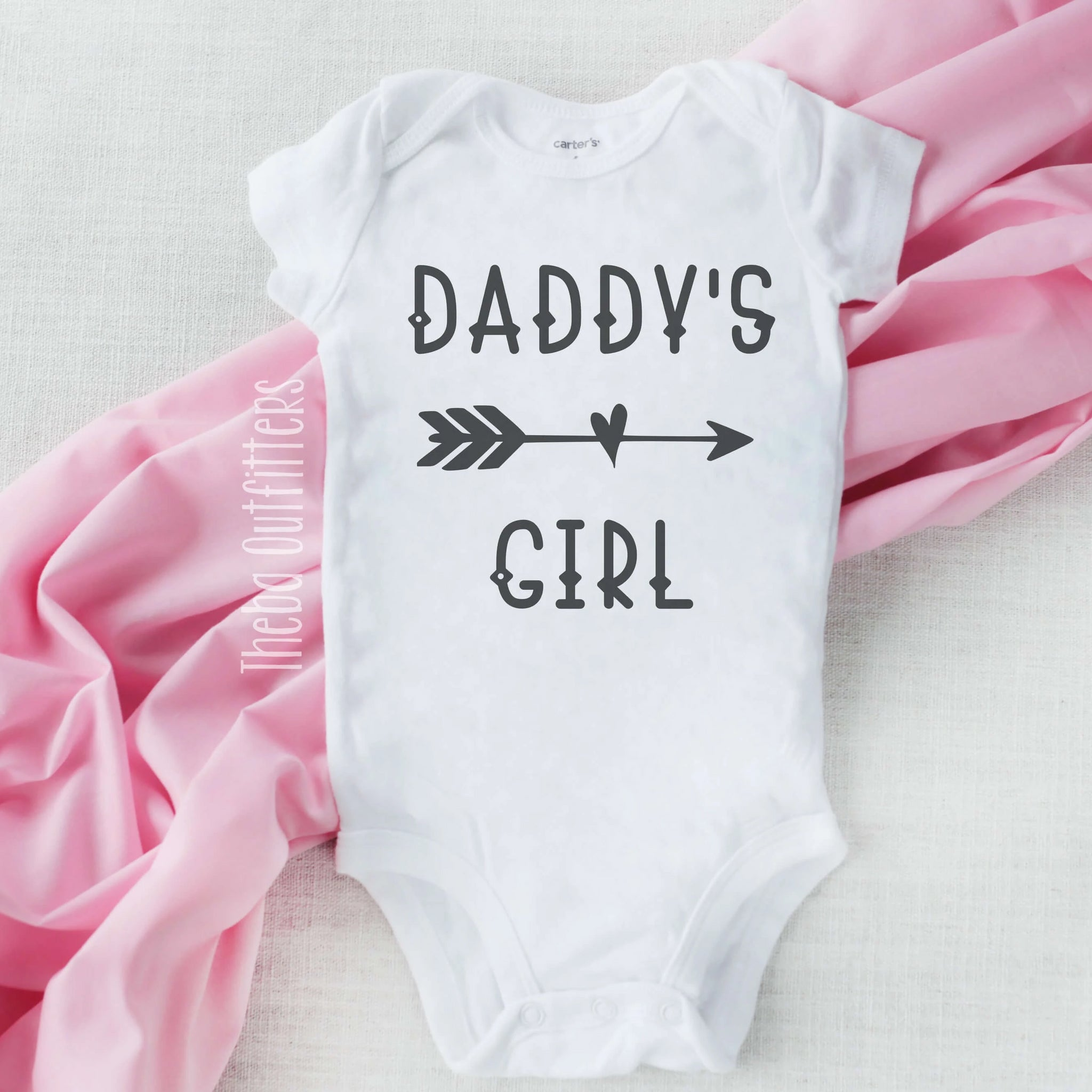 Daddy's Girl Baby Onesie Bodysuit Father's Day Gift Infant Newborn Theba Outfitters