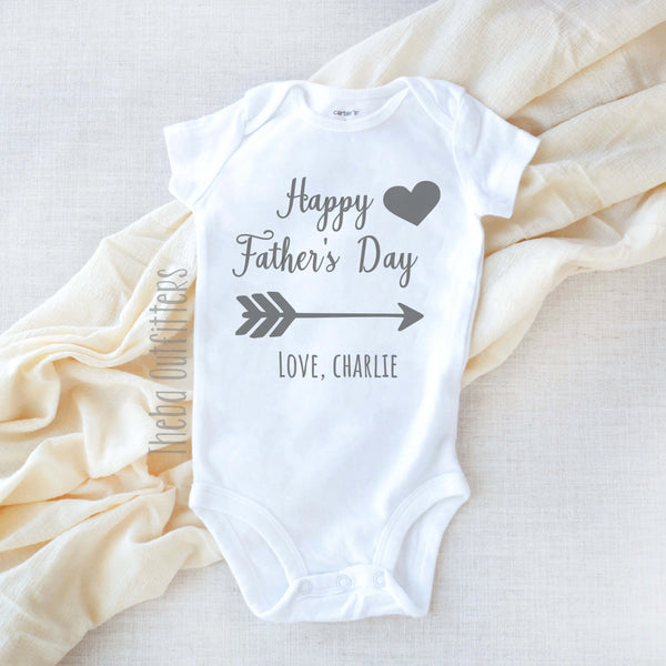 Happy Father's Day Personalized Baby Onesie Bodysuit Infant Theba Outfitters