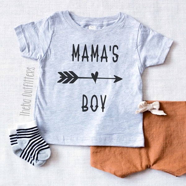 Mama's Boy Shirt Onesie Tee Infant Toddler Mother's Day Gift Theba Outfitters