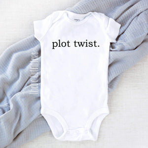 Plot Twist Baby Onesie Bodysuit Pregnancy Announcement Infant Newborn Theba Outfitters