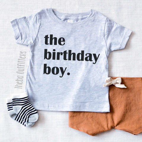 The Birthday Boy Shirt Tee Toddler Baby Theba Outfitters