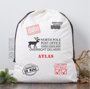 Santa's Delivery Sack for Baby Gifts - Theba Outfitters - canvas bag