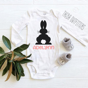 Easter Bunny Onesie- Custom Name