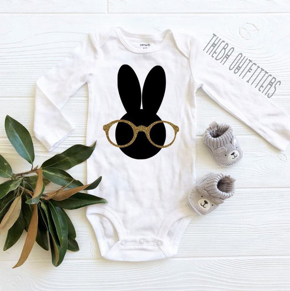 Bunny Glasses - Onesie