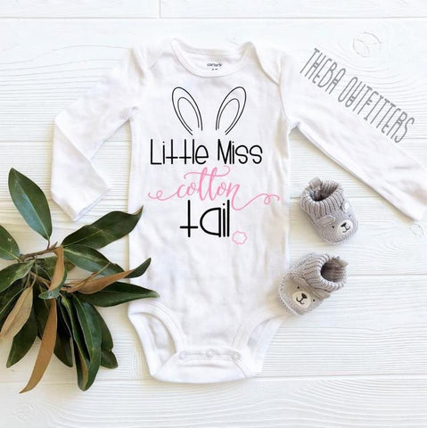 'Little Miss Cotton Tail' - Onesie