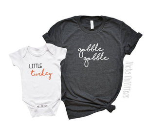 'Gobble Gobble' Mommy & Me Shirts