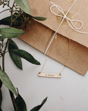 Adoption Gold Bar Necklace