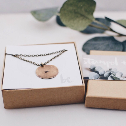 Be. Brass Circle Necklace