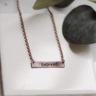 Maisey. Copper Bar Necklace.