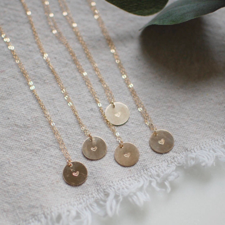 Heart Gold Circle Necklace