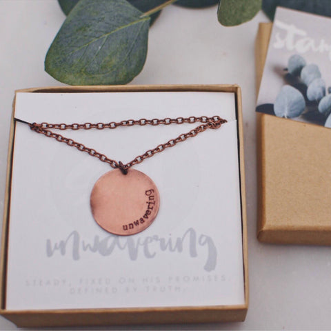 Unwavering Copper Long Necklace
