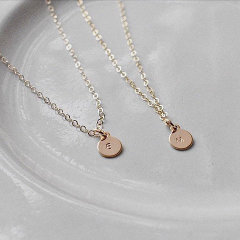 Olivia. Tiny Oval Necklace