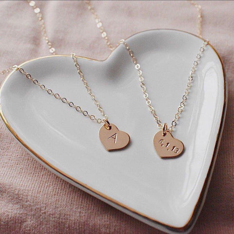 Lovely. Heart Gold Filled Customized Necklace