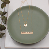 Liza. Mini Gold Square Necklace