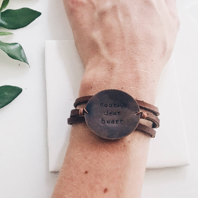 Stamped and Finch Leather Wrap Bracelet